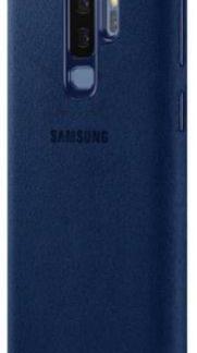 Protectie Spate Samsung Alcantara EF-XG965ALEGWW pentru Samsung Galaxy S9 Plus (Albastru)