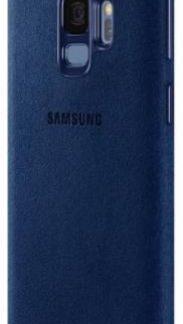 Protectie Spate Samsung Alcantara EF-XG960ALEGWW pentru Samsung Galaxy S9 (Albastru)
