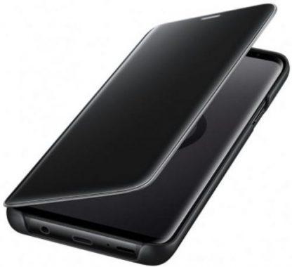 Husa Samsung Clear View Standing EF-ZG965CBEGWW pentru Samsung Galaxy S9 Plus (Negru)