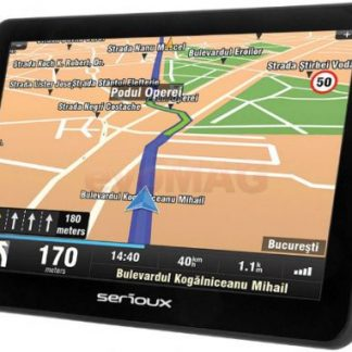 "Sistem de navigatie Serioux UrbanPilot UPQ700FE, TFT 7"", Procesor 800 MHz, 256MB RAM, 8GB Flash, Microsoft Windows CE 6.0, Actualizari pe viata a hartilor, Harta Full Europa"