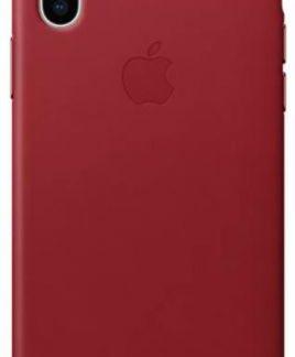Protectie Spate Apple Leather MQTE2ZM/A pentru Apple iPhone X (Rosu)