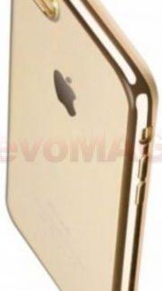 Protectie spate Benks Magic Glitz 948005935788 pentru iPhone 7 Plus (Transparent/Auriu)