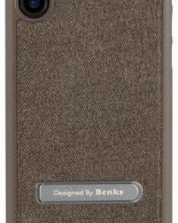 Protectie Spate Benks 6948005941567, functie stand, pentru iPhone X (Maro)