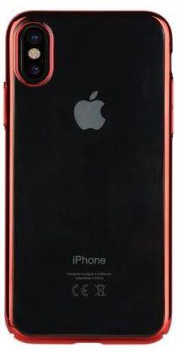 Protectie Spate Benks Electroplated 6948005941505 pentru Apple iPhone X (Transparent/Rosu)