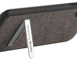 Protectie Spate Benks 6948005941550, functie stand, pentru iPhone X (Negru)