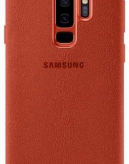 Protectie Spate Samsung Alcantara EF-XG965AREGWW pentru Samsung Galaxy S9 Plus (Rosu)