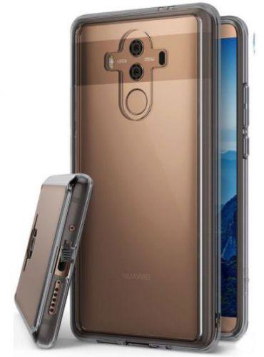Protectie Spate Ringke Fusion Smoke RK841138, margini flexibile antisoc, pentru Huawei Mate 10 Pro (Negru Transparent)