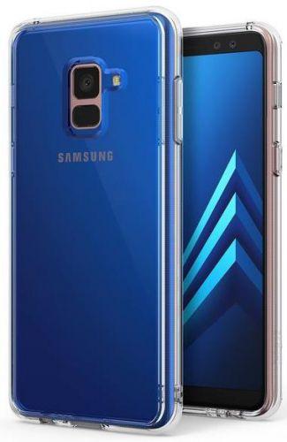 Protectie Spate Ringke FUSION 8809583842500 pentru Samsung Galaxy A8 Plus 2018 (Transparent) + Folie protectie ecran Ringke