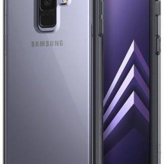 Protectie Spate Ringke Smoke 8809583842517 pentru Samsung Galaxy A8 Plus 2018 (Negru Transparent) + Folie protectie ecran Ringke