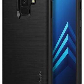 Protectie Spate Ringke Onyx 8809583842531 pentru Samsung Galaxy A8 Plus 2018 (Negru) + Folie protectie ecran Ringke