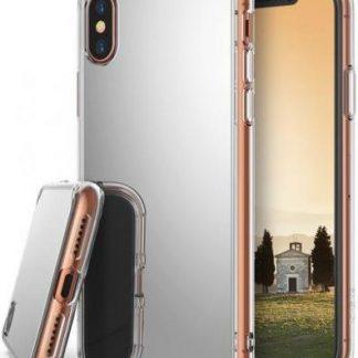 Protectie Spate Ringke Mirror, 8809550345690 pentru Apple iPhone X (Argintiu)