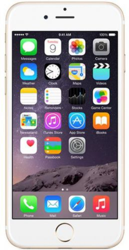 Telefon Mobil Apple iPhone 6, Procesor Apple A8 Dual Core 1.4 GHz, IPS LED-backlit widescreen Multi‑Touch 4.7inch, 1GB RAM, 32GB flash, 8MP, Wi-Fi, 4G, iOS 8 (Auriu)