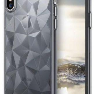 Protectie Spate Ringke Prism Smoke, 8809550346024 pentru Apple iPhone X (Negru Transparent)