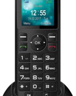 Telefon fix Maxcom MM35D, Single SIM, 2G (Negru)