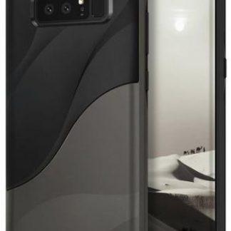 Protectie spate Ringke Wave Metallic Chrome pentru Samsung Galaxy Note 8 (Negru/Gri)