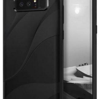 Protectie spate Ringke Wave Charcoal Black pentru Samsung Galaxy Note 8 (Negru)