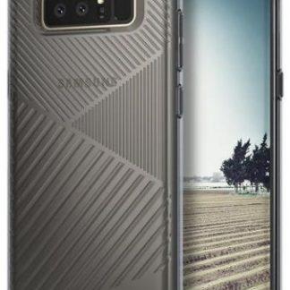 Protectie spate Ringke Bevel Smoke Black pentru Samsung Galaxy Note 8 (Negru Transparent)