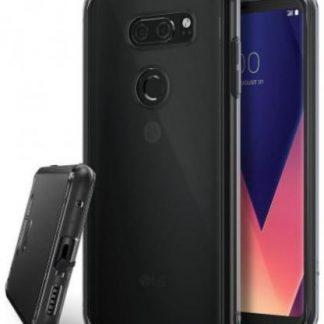 Protectie Spate Ringke Fusion Smoke pentru LG V30 (Negru Transparent)