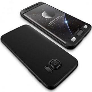 Protectie Spate GKK 360 pentru Samsung Galaxy S6 Edge (Negru)
