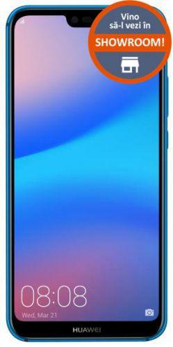 Telefon Mobil Huawei P20 Lite, Procesor Octa-Core 2.36/1.7 GHz, LTPS TFT Capacitive touchscreen 5.84inch, 4GB RAM, 64GB Flash, 16+2MP, Wi-Fi, 4G, Dual SIM, Android (Albastru)