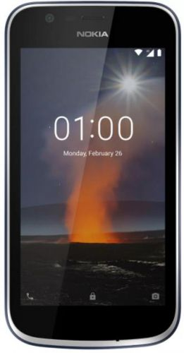 Telefon Mobil Nokia 1, Procesor Quad Core 1.1 GHz, IPS 4.5inch, 1GB RAM, 8GB Flash, 5MP, Wi-Fi, 4G, Dual Sim, Android (Albastru inchis)
