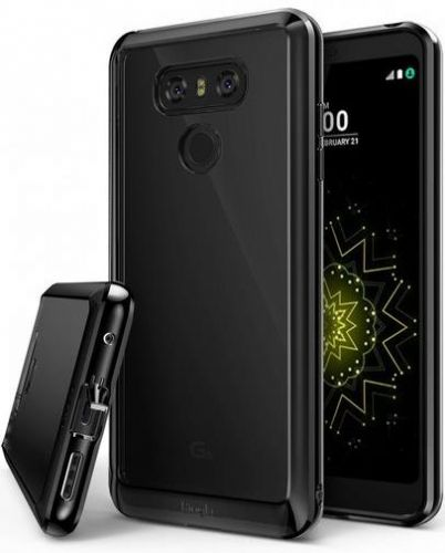 Protectie Spate Ringke Fusion Ink pentru LG G6 (Negru) + folie protectie display