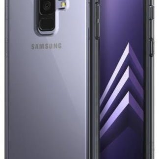 Protectie Spate Ringke Smoke pentru Samsung Galaxy A8 2018 (Negru) + Folie protectie ecran Ringke