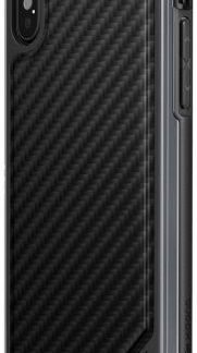 Protectie spate X-Doria Defense Lux pentru Apple iPhone X (Negru)