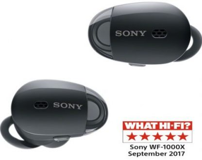 Casti Stereo Sony WF-1000X, Bluetooth, NFC, Wireless, Noise cancelling (Negru)