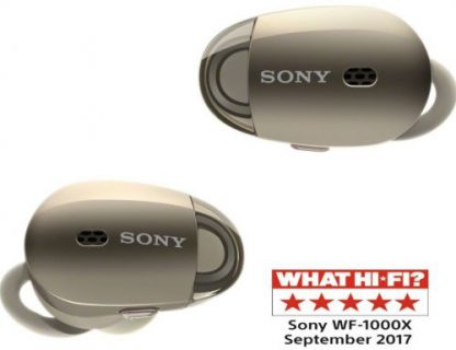 Casti Stereo Sony WF-1000X, Bluetooth, NFC, Wireless, Noise cancelling (Auriu)