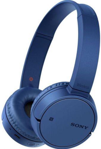 Casti Stereo Sony WH-CH500 Wireless, Bluetooth, NFC, Microfon (Albastru)