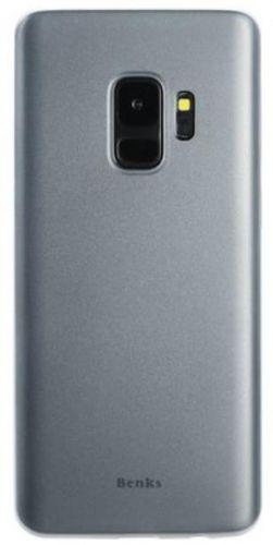 Protectie Spate Benks Lollipop pentru Samsung Galaxy S9 (Alb Transparent)