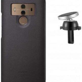 Set Protectie Spate + Suport Auto Magnetic Huawei CF80 pentru Huawei Mate 10 Pro (Maro)