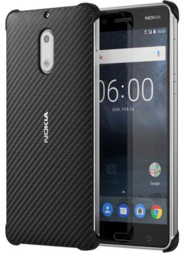 Protectie Spate Nokia Carbon Fibre Design CC-802 pentru Nokia 6 (Negru)
