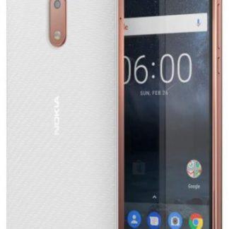 Protectie Spate Nokia Carbon Fibre Design CC-802 pentru Nokia 6 (Alb)