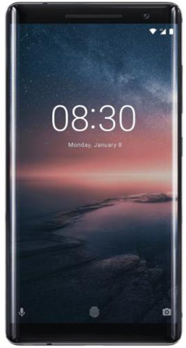Telefon Mobil Nokia 8 Sirocco, Procesor Octa-Core 2.5 / 1.8GHz, pOLED Capacitive touchscreen 6inch, 6GB RAM, 128GB Flash, Camera Duala 12+13MP, Wi-Fi, 4G, Android (Negru)