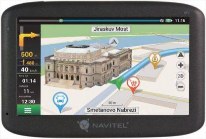 """Sistem de navigatie Navitel E500, Touchscreen 5"""", Procesor 800 MHz, 128GB RAM, 8GB Flash, Windows CE 6.0, Actualizari pe viata a hartilor, Harta Full Europa"""