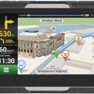 """Sistem de navigatie Navitel G550 Moto pentru motocicleta, Touchscreen 4.3"""", Procesor 800 MHz, Bluetooth, Rezistent la apa si pra/socuri/vibratii, Actualizari pe viata a hartilor, Harta Full Europa"""