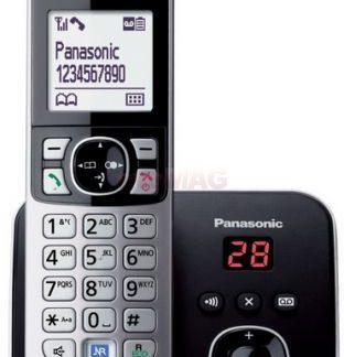 Telefon Fix Panasonic KX-TG6821FXB, Robot digital (Negru)
