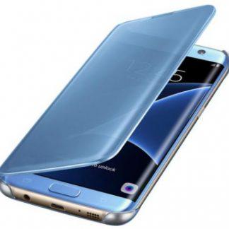 Husa Clear View Samsung EF-ZG935CLEGWW pentru Samsung Galaxy S7 Edge G935 (Albastra)