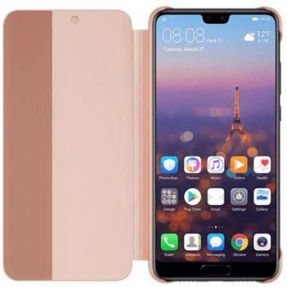 Husa Flip Cover Huawei 51992357 pentru Huawei P20 (Roz)