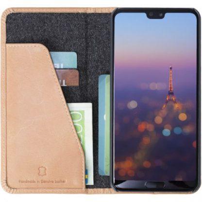 Husa Flip Cover Krusell Sunne 4 Card KRS61366 pentru Huawei P20 Pro (Bej)