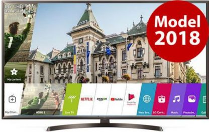 Televizor LED LG 139 cm (55inch) 55UK6400PLF, Ultra HD 4K, Smart TV, webOS, Wi-Fi, CI+