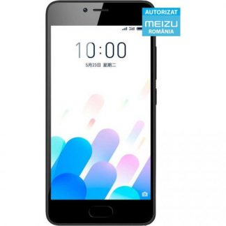 Telefon Mobil Meizu M5c, Procesor Quad-Core 1.3GHz, IPS LCD capacitive touchscreen 5inch, 2GB RAM, 16GB Flash, 8MP, 4G, WI-FI, Dual SIM, FlymeOS Bazat pe Android (Negru)