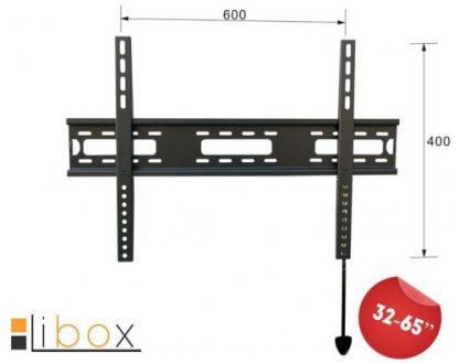Suport Perete Libox PARYZ SLIM LB-300, 32inch - 65inch, 50 kg (Negru)