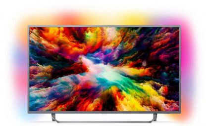 Televizor LED Philips 139 cm (55inch) 55PUS7303/12, Ultra HD 4K, Smart TV, Android TV, Ambilight, WiFi, CI+