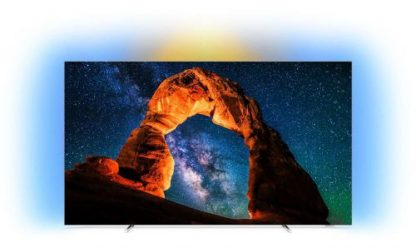 Televizor OLED Philips 139 cm (55inch) 55OLED803/12, Ultra HD 4K, Smart TV, WiFi, CI+