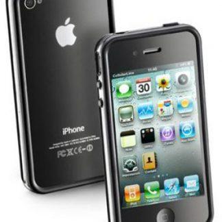 Husa Cellular Line Bumper pentru iPhone 4 (Neagra)