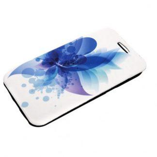 Husa Book Cover Tellur TLL111401 pentru Samsung Galaxy J1 (Alb/Albastru)
