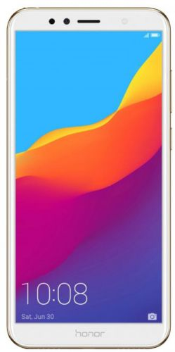 Telefon Mobil Huawei Honor 7A, Procesor Octa-Core 1.4GHz/1.1GHz, IPS LCD Capacitive touchscreen 5.7inch, 2GB RAM, 16GB Flash, Camera Duala 13+2MP, Wi-Fi, 4G, Dual Sim, Android (Auriu)